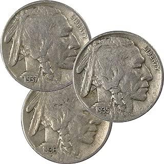 1935-1937 Buffalo Nickel All-Mint Set