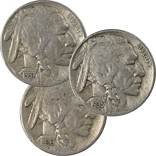 """2 /& 3 SNAPS 5 Real Coin Dateless /""""INDIAN /& Buffalo/""""  Nickles"""