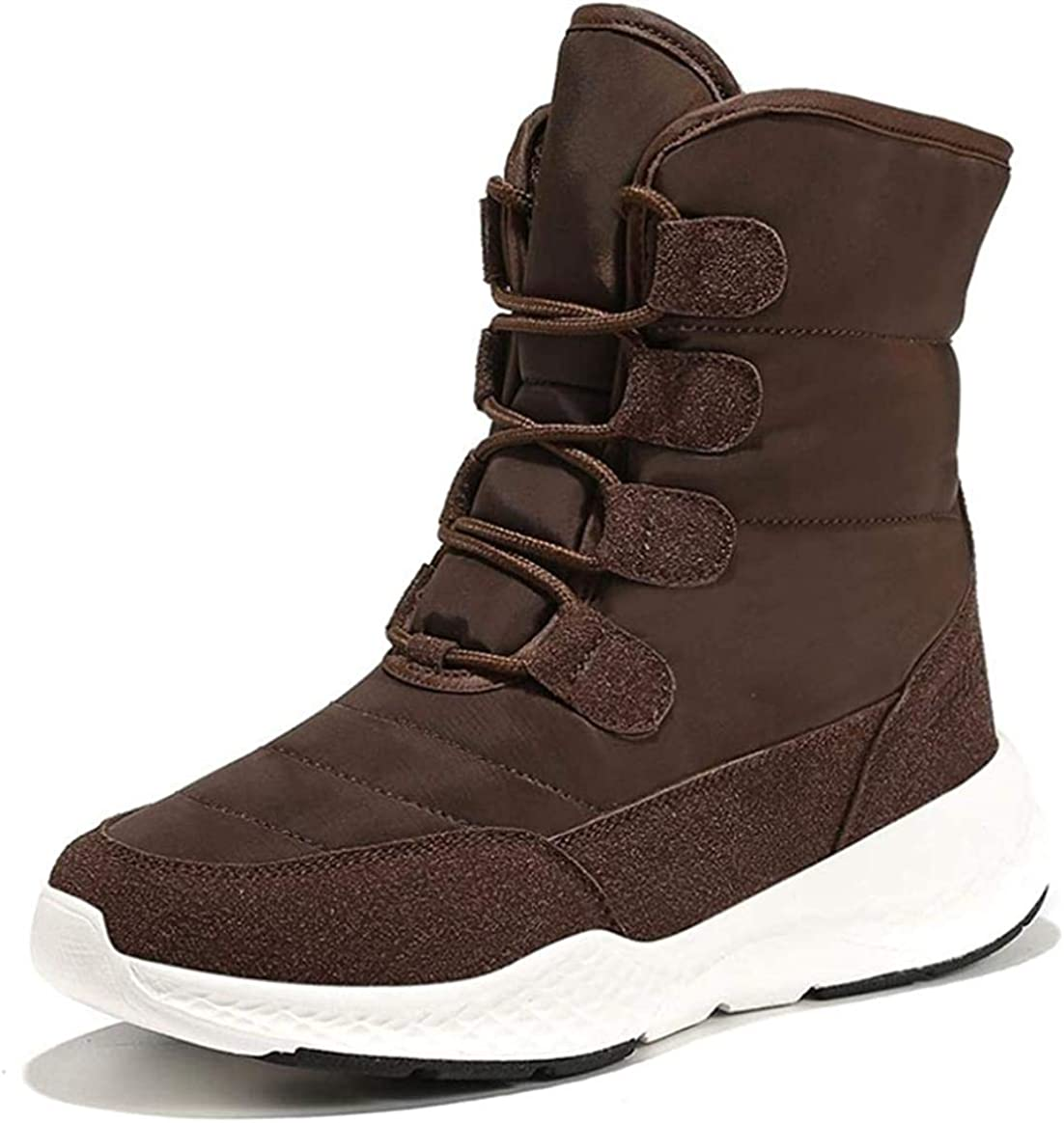 Women Winter Lace-Up Outdoor Anlkle Ladies Snow 5%OFF Round Boots Toe 特売