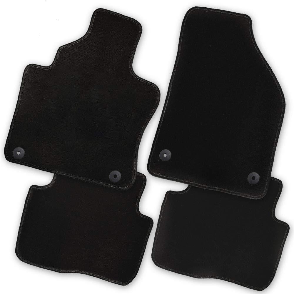 Bär Afc Mb02162 Premium Auto Fußmatten Velours Schwarz Rand Kettelung Schwarz Set 4 Teilig Passgenau Für Modell Siehe Details Auto