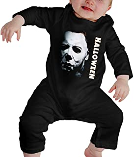 YEGFTSN Hallo-ween Mic-hael My-ers Baby Boys Girls Jumpsuit Unisex Toddler Long Sleeve Romper Bodysuit One Piece Outfits