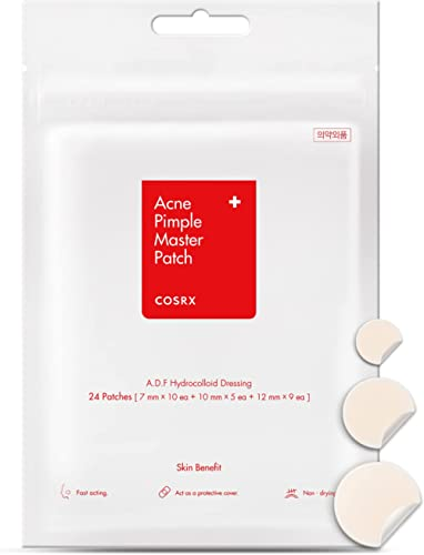 Cosrx Acne Pimple Master Patch Acne Patch, Hydrocolloid acne Absorbing Spot Dot 24 Patches, 0.10 Pounds