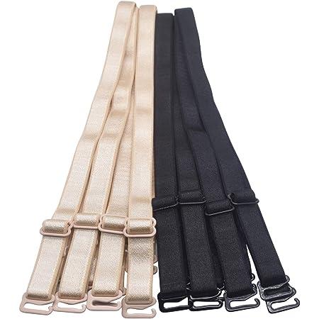 Women/'s Bra Straps 1.0 cm wide Adjustable Elastic Soft Shoulder Straps