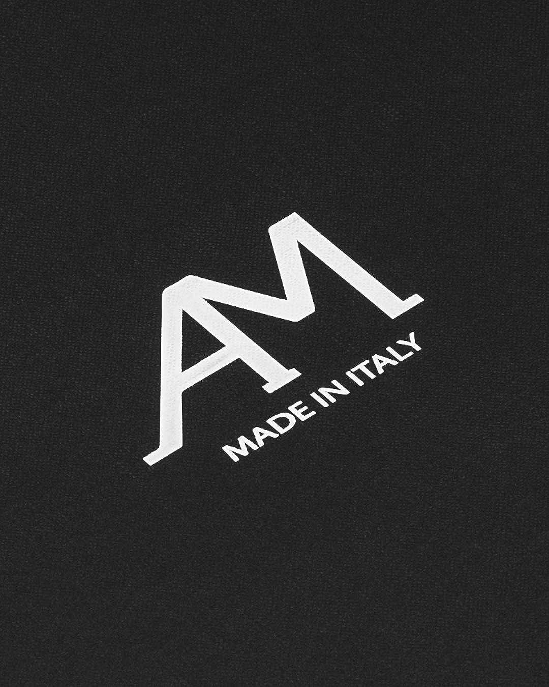 Berretto a Coste con Risvolto Caldo AM Cappello 100/% Cashmere Artigianale 100/% Made in Italy