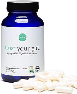Ora Organic Trust Your Gut Vegan Probiotic with Prebiotic Capsules, 60ct