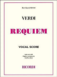 Giuseppe Verdi: Requiem (Ricordi Edition) - Vocal Score. Partitions pour Soprano/Alto/Tenor/Basse/SATB/Accompagnement Piano