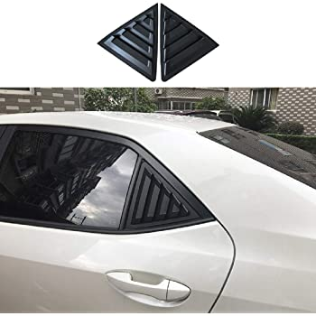 for Toyota Corolla Sedan 2014-2018 Bright black Vent Window shutter blind Trim