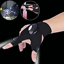 Tollcuudda Fishing LED Flashlight Gloves for Repairing,Working in Darkness Places, Fishing, Camping, (Left Hand)