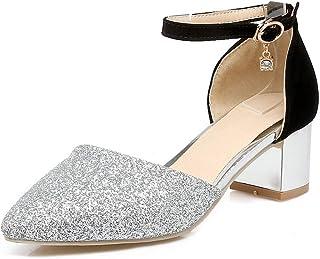 BalaMasa Womens ASL06137 Pu Block Heels