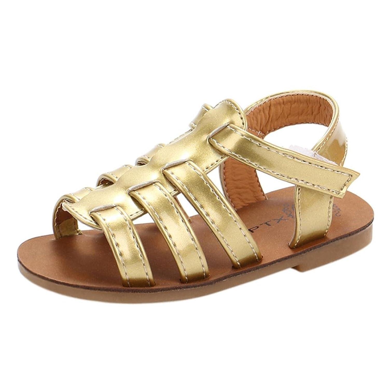 Coperプリンセスサンダル、小さな女の子ビーチサンダルレザーローマ靴