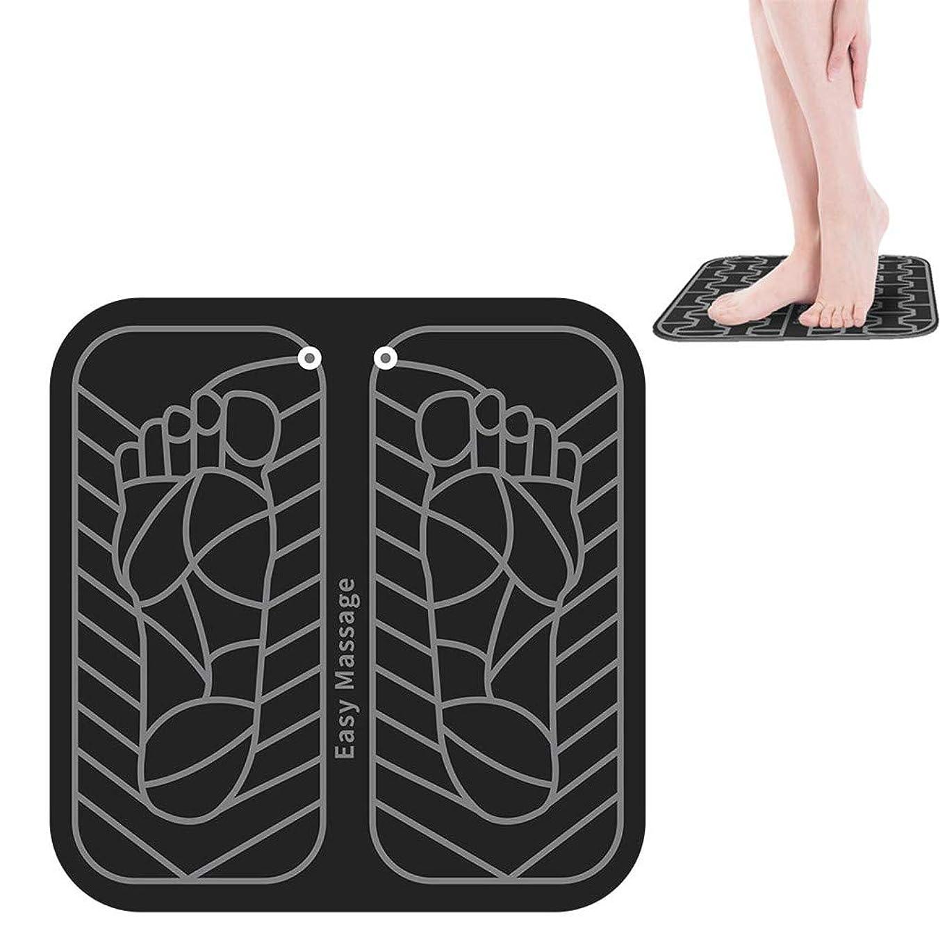 軽く鮮やかな慣習EMSインテリジェントフットマッサージャーは、リモートコントロール血液循環筋肉の痛みを軽減を促進するための電気フットマッサージパッドパルス