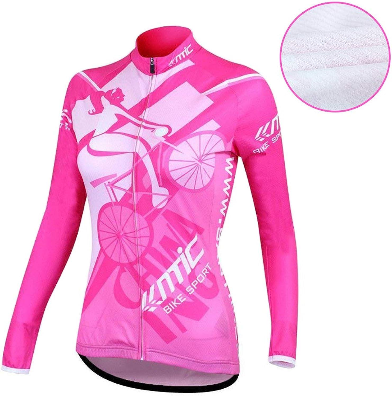 Santic Long Sleeve Women's Cycling Fleece Thermal Jerseys Outdoor Sports