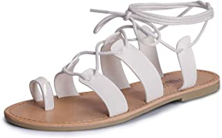Tie Up Flat Gladiator Roman Sandals for Women