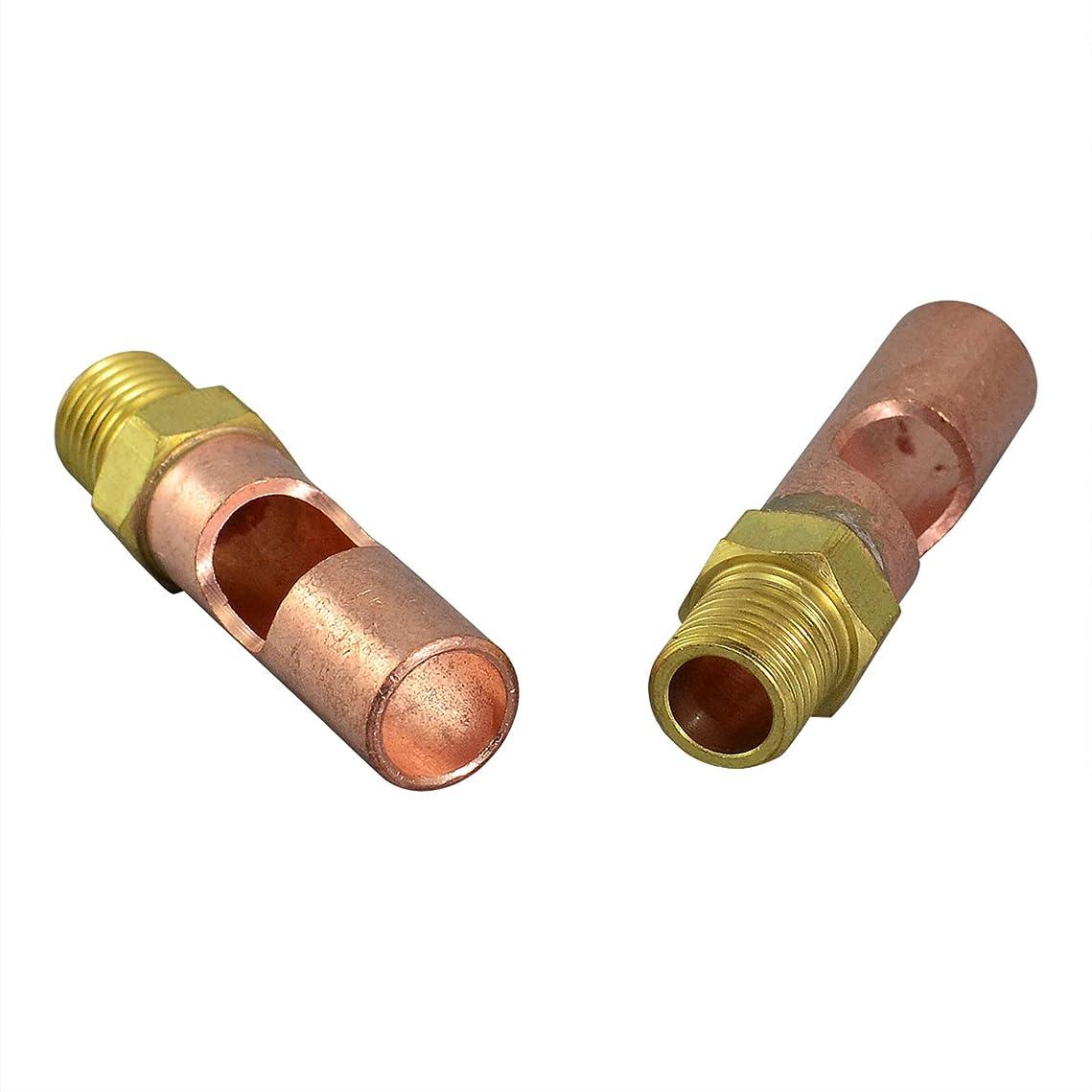 陽気なタイトル適応2個 C17-1 フロントアダプタ WP-17 WP-9 WP-24G TIG 溶接トーチ