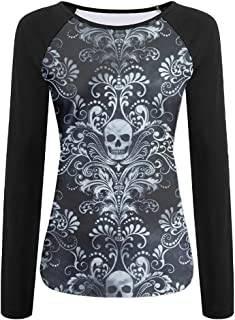 Devil Skull Ladies Quickdry Outdoor Raglan Tshirt