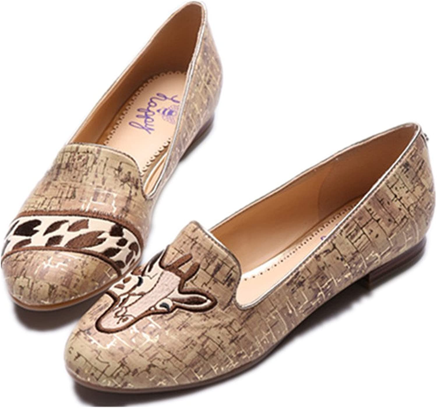 C. Wonder Time Womens Slip on Ballet Flats Loafers Espadrilles shoes Brown
