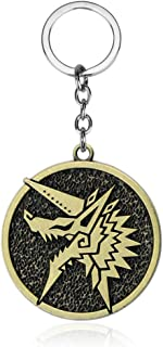 Monster Hunter World Iceborne MHW Immortal Thunderlord Zinogre Icon Keychains Game Collection Backpack Pendant Novelty Key...