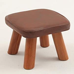 Stool Wooden Shoes Bench Coffee Table Stool Fabric Fashion Creative Children Adult Small Bench Sofa Square Stool for Bedroom and School