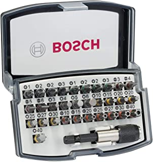 Bosch Professional skruvdragarbitssats i 32 delar (Extra Hard-skruvbit, tillbehör borrskruvdragare och skruvdragare)