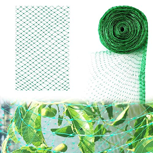 Garden Netting, Insect Anti Bird Protection Net Green Pond Plant Mesh for Protect Seedlings Plants Flowers Crops Fruit Trees Vegetables from Foxes, Birds and Pests (6.6 * 32.8Ft)