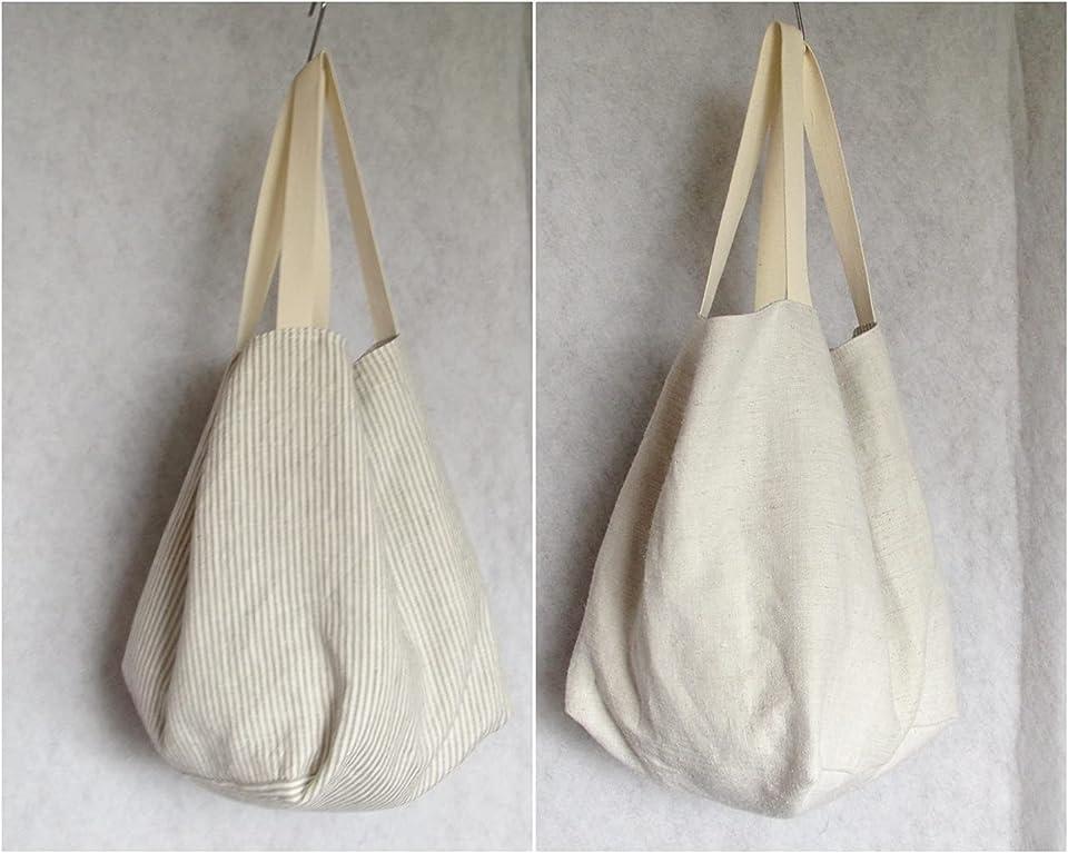 Tasche, groß, genäht aus reinem Leinen