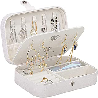 MONTE Korean Version of Pure and Fresh Simple Girl Department Earrings Board Double Layer Jewelry Box with Bead Fleece Lin...
