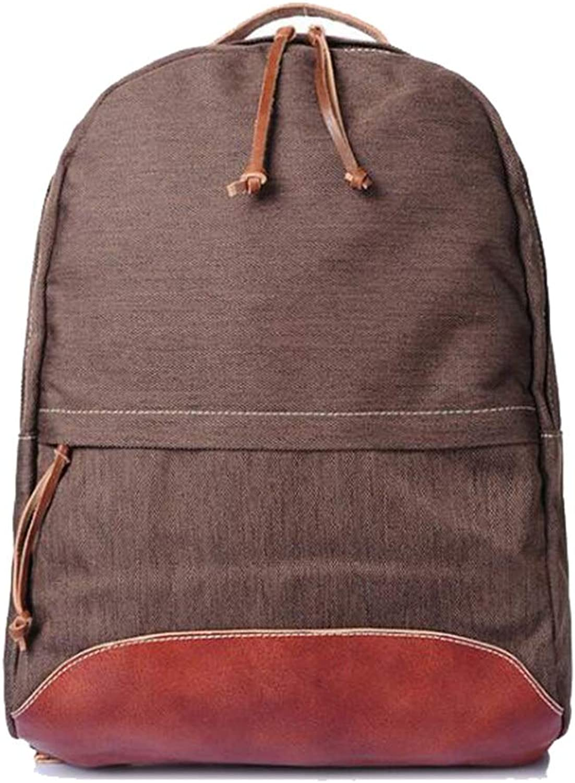 Canvas-Rucksack Vintage Unisex Wasserdichte 15,6-Zoll-Laptop Outdoor Commerce Literary Freizeitpaket Einkaufen (Farbe   Braun, gre   31  10  45cm)