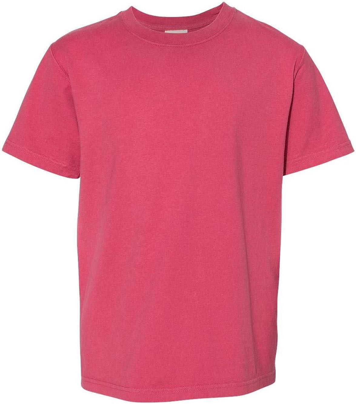Hanes ComfortWash Garment Dyed Youth Short Sleeve T-Shirt - GDH175 - L - Crimson Fall