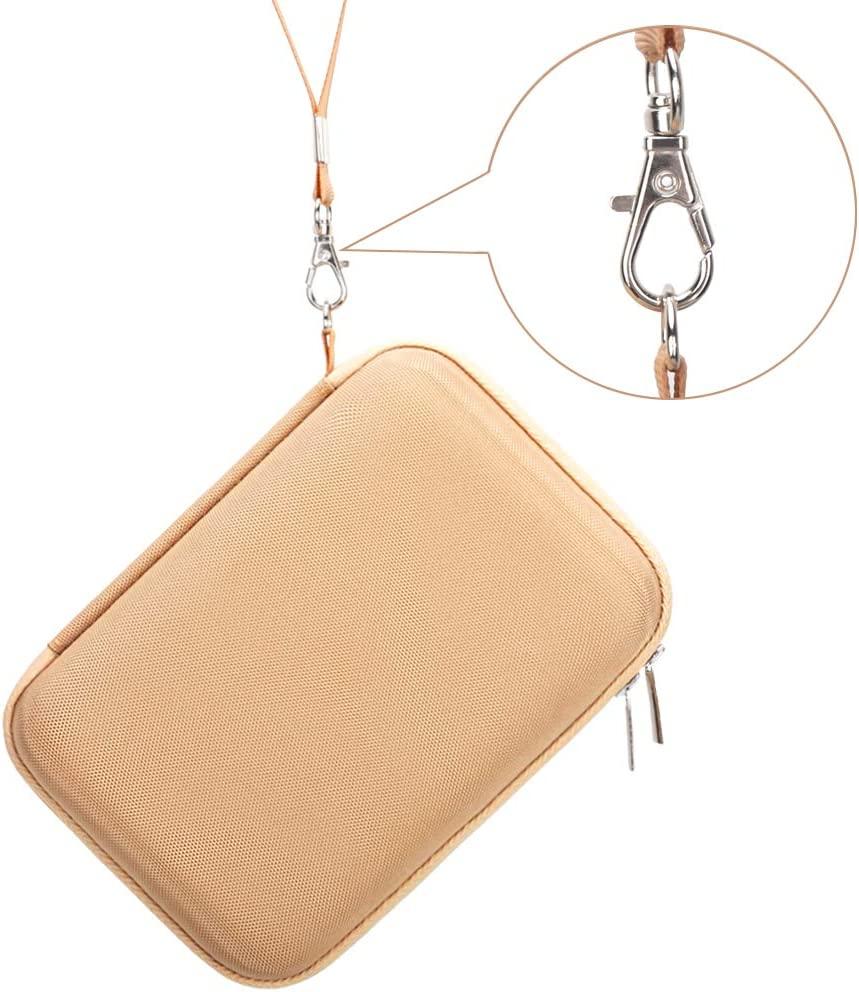 BOVKE 2-in-1 Carrying Case for Samsung T5 T3 T1 Portable 250GB 500GB 1TB 2TB SSD USB 3.1 Type C Hard Drive External Solid State Drives, Gold