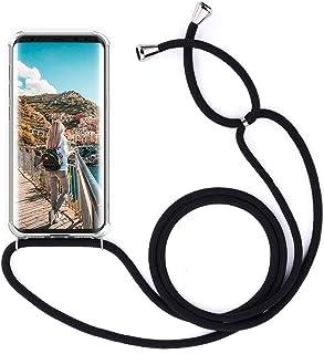 XCYYOO Collier pour Huawei P20 Coque,étui de téléphone avec Cordon - Tour de Cou Lanière en Corde - Housse en Silicone ave...