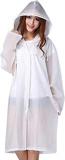 Bramble 2 Pack - Adults Reusable Waterproof EVA Raincoat, Rain Resistant Poncho