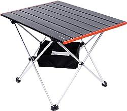 Sportneer Lichte campingtafel, inklapbaar, van aluminium, draagbaar, met koffer en opbergvakken, voor picknick, camping, s...