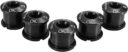 Gub 5PCS Chainring Bolts 7075 Aluminum Alloy M8 Crankset Single/Double Chainwheel Bolts & Nuts MTB Disc Screws for Road Bike,Mountain Bike,BMX,MTB
