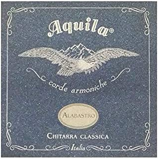 Aquila Alabastro 19C Set of Classical Guitar Strings (Normal Tension, Nylgut Material with Percussive Sound)