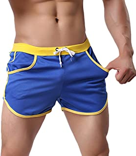 Rexcyril Men's Running Workout Bodybuilding Gym Shorts Athletic Sports Casual Short Pants