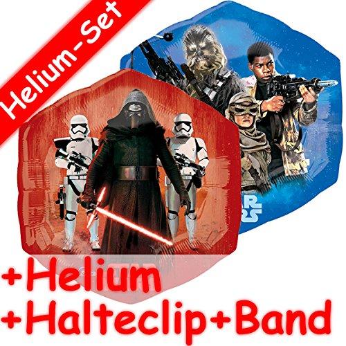 Folieballon set * Star Wars + Helium vullen + klem + band * voor kinderverjaardag of themafeest | folies ballon decoratie ballongas The Force Awakens Episode VII Het ontwaken van de macht Kylo Ren