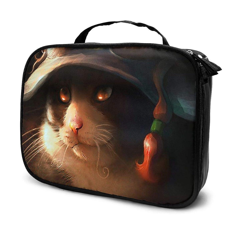 腐った山積みの買収収納袋ハロウィーン悪猫!化粧品袋耐摩耗性軽量ポータブル高品質大容量旅行ポーチバスルームポーチ旅行小物整理約8×25×19cm