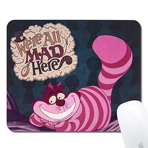 Onelee Disney Alice in Wonderland Cheshire Cat Rectangular Mouse Pad - We're All Mad Here - Gaming Mouse Pad
