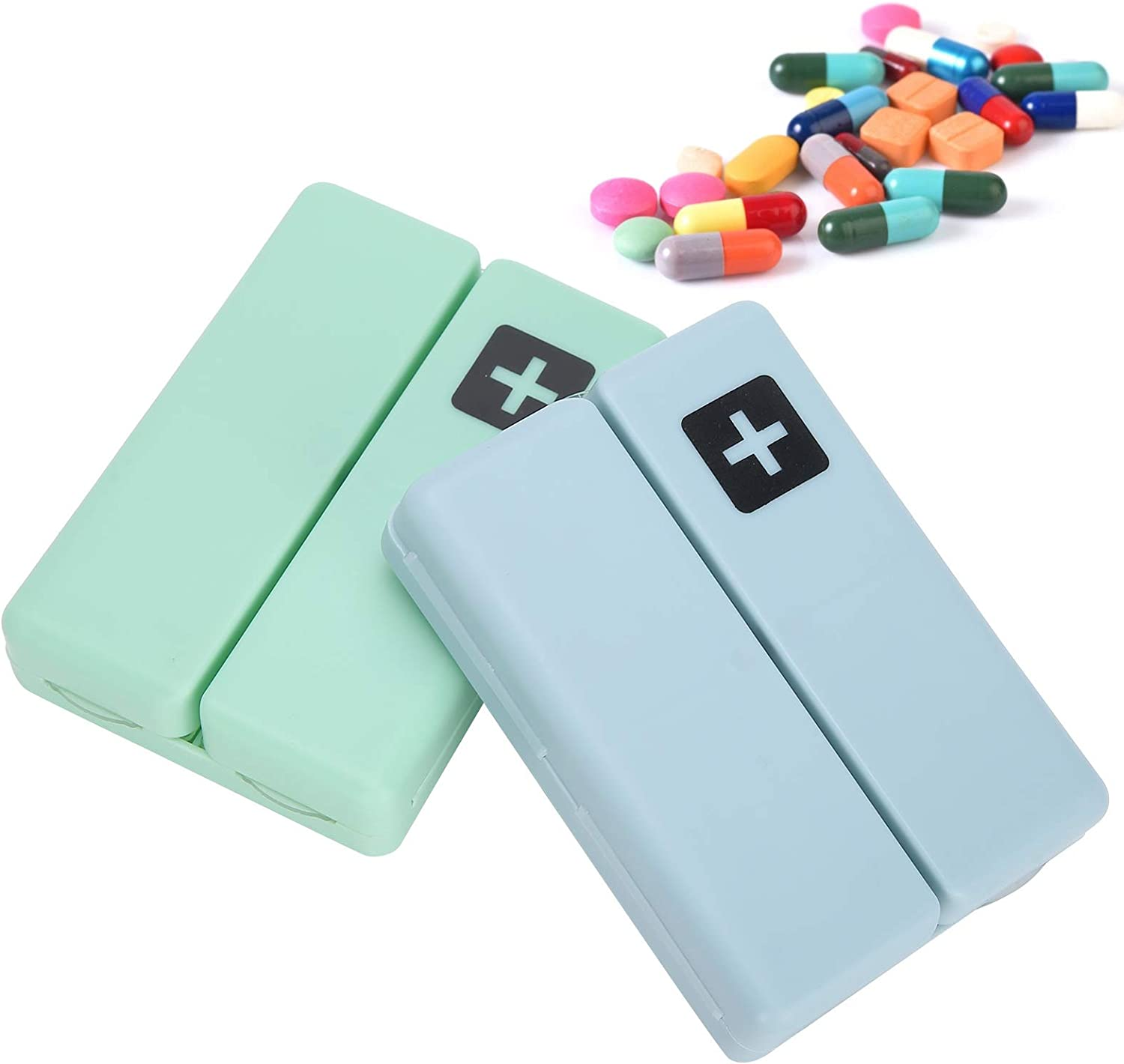 Lightweight Box Container 2pcs Vitamins Genuine Case San Jose Mall for Magnet Lid with