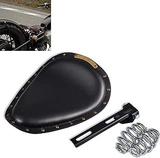 KATUR Motorcycle Solo Seat Pad Crocodile Leather Style Saddle Solo Seat Cushion for Harley/Honda/Yamaha/Kawasaki