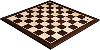 """The House of Staunton African Palisander & Ash Wooden Tournament Chess Board - 2.25"""" - with Logo"""