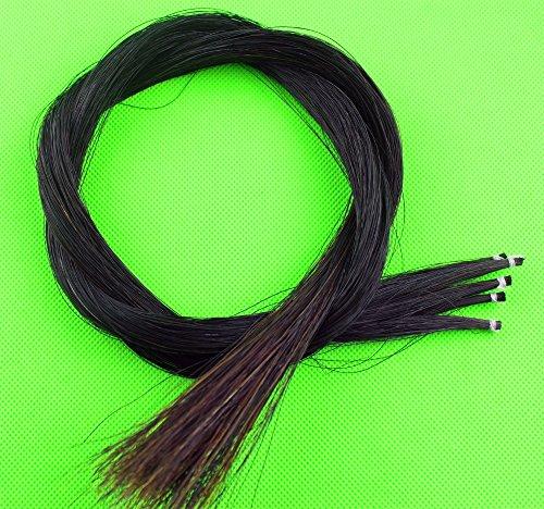 Violino naturale nero fiocco capelli cavallo coda 80-85 cm