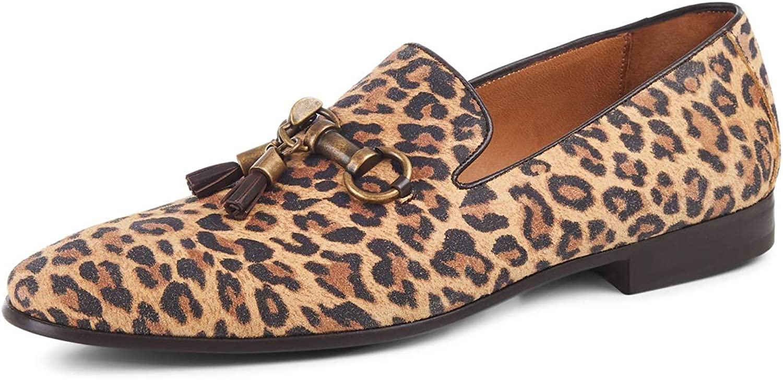 Leopard Print Leather Slipper skor M 44
