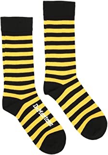 Amarillo Thin Stripe Calcetines-Small