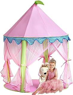 comprar comparacion Sonyabecca Castillo de Princesa Castillo de Tienda de Jugar Castillo Princesa para niña Pop up(diámetro: 102 cm, Altura: 1...