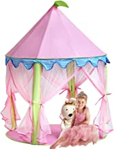Sonyabecca Princess Castle Tent, Tent for Girls Pop up Tent Pink