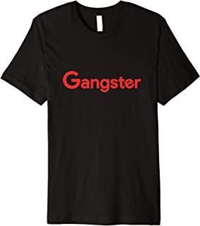 Gangster T-Shirt (Black w/ Red Letters)