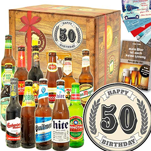 50. Geburtstag - 12 Biersorten Welt - Geschenke zum 40 Geburtstag