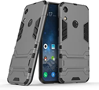Huawei Y6 2019 / Honor 8A Case, CaseExpert Shockproof Rugged Impact Armor Slim Hybrid Kickstand Protective Cover Case for Huawei Y6 Pro 2019 / Honor 8A Grey 201890305SEW047