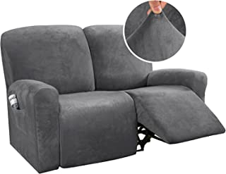 6 Piece Sytle Recliner Chair Cover Velvet Stretch Reclining Sofa Cover Couch Cover for 2 Cushion Seat Sofa Slipcover Furni...